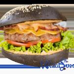 Черный гриль бургер